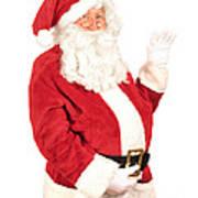 Santa Waving Art Print