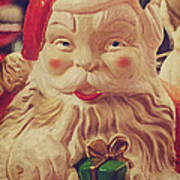 Santa Whispers Vintage Art Print by Toni Hopper