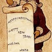 Santa Wishes Digital Art Art Print