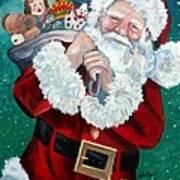 Santa's Coming To Town Art Print