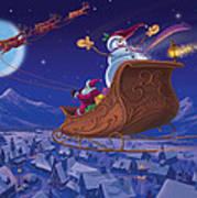Santa's Helper Print by Michael Humphries
