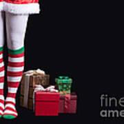 Santas Little Helper Art Print by Edward Fielding