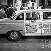 Santa's Taxi Art Print