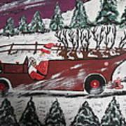 Santa's Truckload Art Print