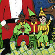 Santa's Workshop Art Print