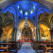 Santorini Cathedral  Art Print