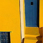 Santorini Doorway Art Print