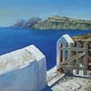 Santorini Island Art Print