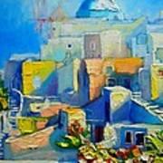 Santorini Light Art Print