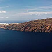 Santorini Panorama Art Print