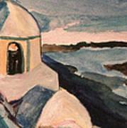 Santorini View Art Print