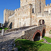 Sao Jorge Castle In Lisbon Art Print