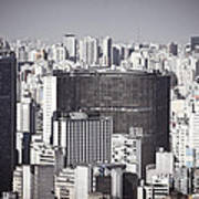 Sao Paulo - Aerial View Art Print by Ricardo Lisboa