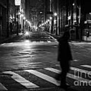 Sao Paulo Street At Night Art Print