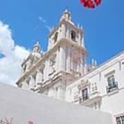 Sao Vicente De Fora Church In Lisbon Art Print