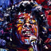 Sarah Vaughan Jazz Face Series Art Print