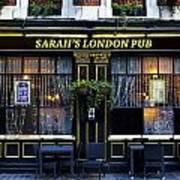 Sarah's London Pub Art Print