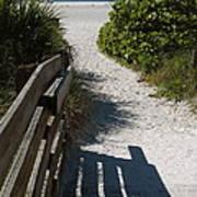 Sarasota Beach Walk Path. Art Print