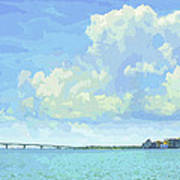 Sarasota Skyline From Sarasota Bay Art Print