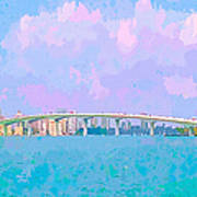 Sarasota Via Ringling Bridge Art Print