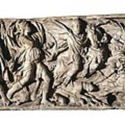 Sarcophagus With Hunting Scene, 3rd C Art Print