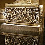 Sarcophoghus Reflected In Antalya Archeological Museum-turkey  Art Print