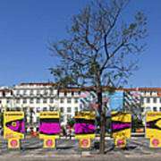 Sardine Outdoor At Pedro Iv Square Best Known As Rossio Square Art Print