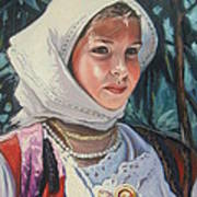 Sardinian Girl Art Print