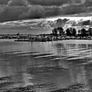 Sarnia Harbour B And W - Canada Art Print