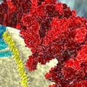 Sars Coronavirus Proteins, Artwork Art Print