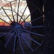 Satellite Sunset Art Print