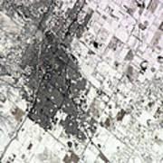 Satellite View Of Amarillo, Texas Art Print