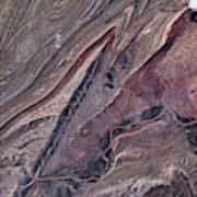 Satellite View Of Big Horn, Wyoming, Usa Art Print