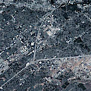 Satellite View Of Boise, Idaho, Usa Art Print