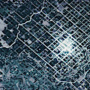 Satellite View Of Fields In Sonora Art Print