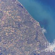 Satellite View Of St. Joseph Area Art Print by Stocktrek Images