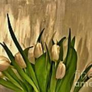 Satin Soft Tulips Art Print