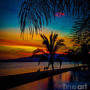 Saturated Mexican Sunset Art Print