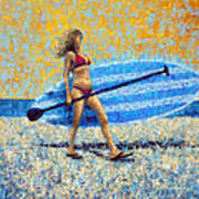 Saturday Art Print by Ned Shuchter
