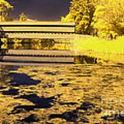 Saucks Bridge - Pond Art Print