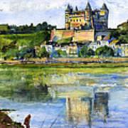 Saumur Chateau France Art Print