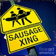 Sausage Crossing Art Print