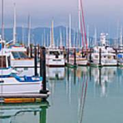Sausalito Harbor California Art Print