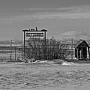 Savageton Cemetery  Wyoming Art Print