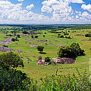 Savanna Landscape In Serengeti Art Print