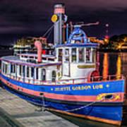 Savannah Belle Dot Ferry Art Print