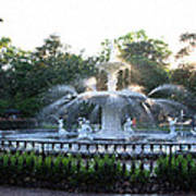 Savannah Georgia Forsyth Park Fountain Art Print