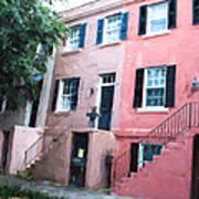 Savannah Georgia Shades Of Pink Art Print