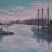 Savannah Harbor 1900 Art Print