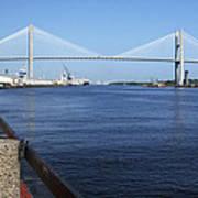 Savannah River Bridge Ga Art Print